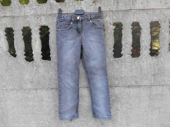 Spodnie 116 122 dziewczęce Jeansy szare 6 7 lat...