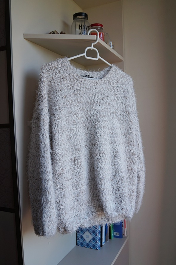 Beżowy kudłaty sweterek XL Atmosphere...