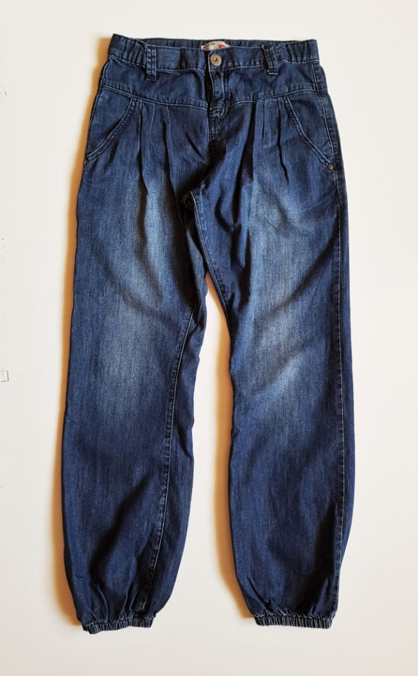 KIDS Spodnie jeansy dla dziewczynki z gumką na nogawkach Rozm 152