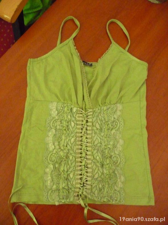 Gorsetowy zielony top
