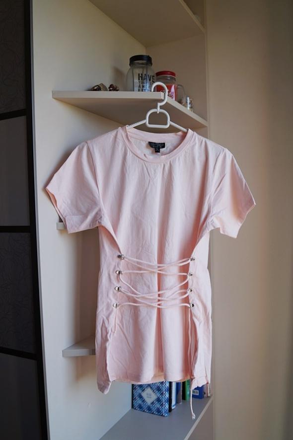 Brzoskwiniowa sznurowana bluzka Top Shop XS