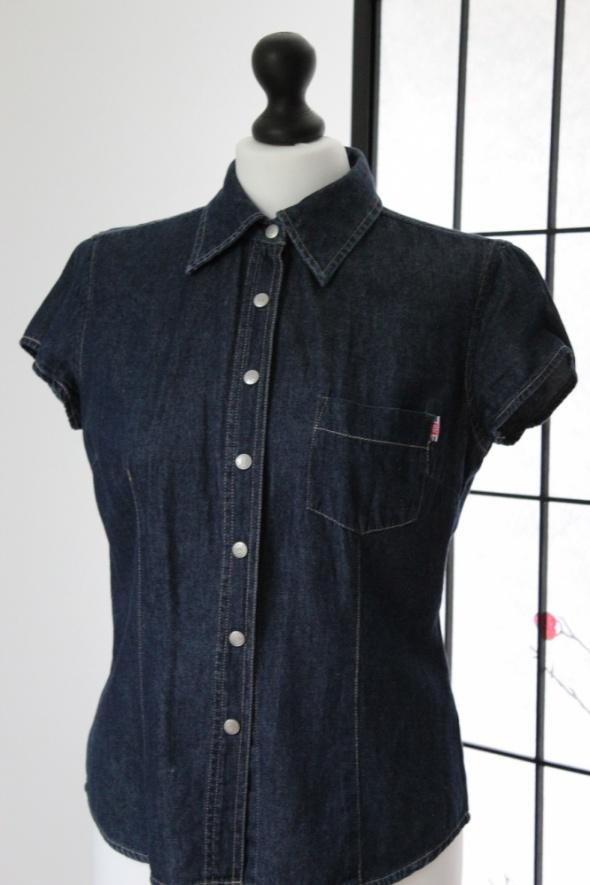 Koszula dżinsowa jeansowa jeans z krótkim rękawem
