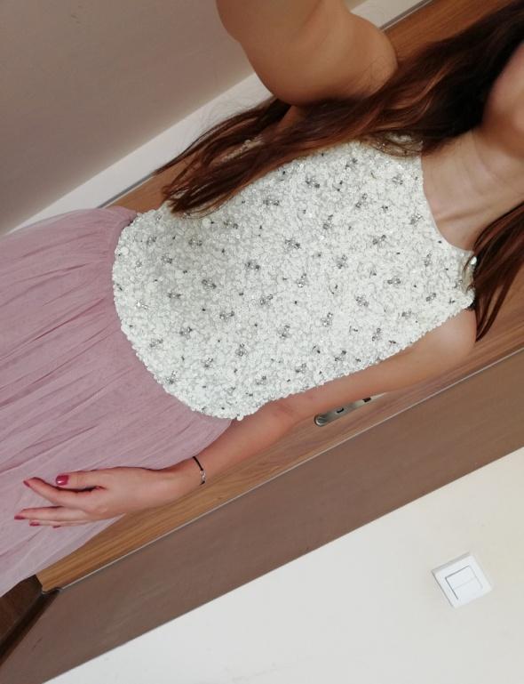 Zdobiona bluzka Lace&Beads top cekiny cekinowa Asos koraliki modna insta tumblr