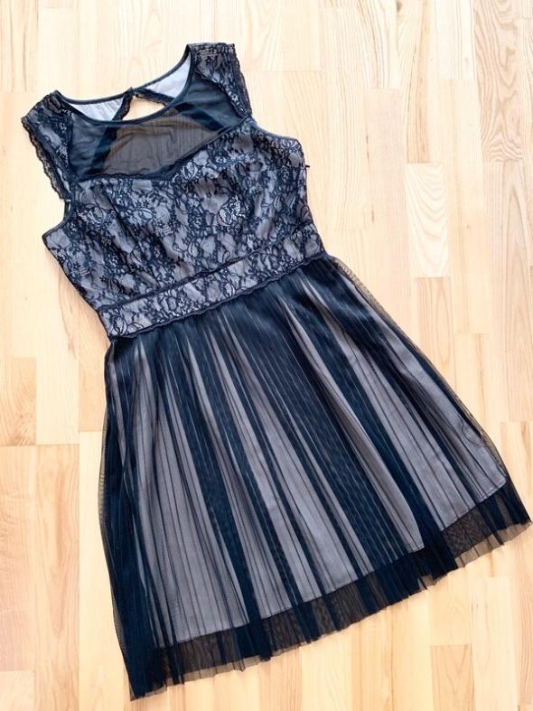 Top Secret elegancka sukienka wieczorowa koronkowa L...