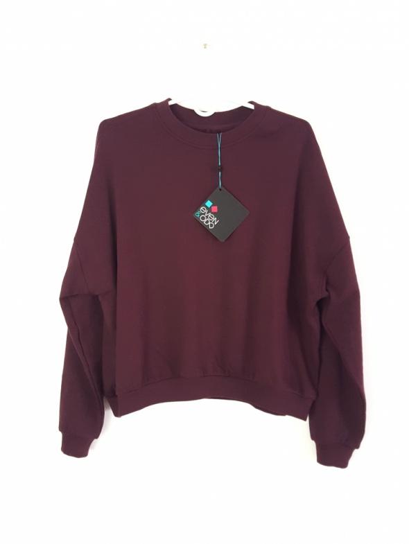 NOWA luźna bluza oversize Even&Odd S M 36 38 burgund