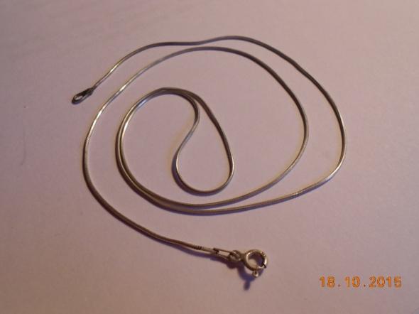 srebrny 925 łańcuszek żmijka