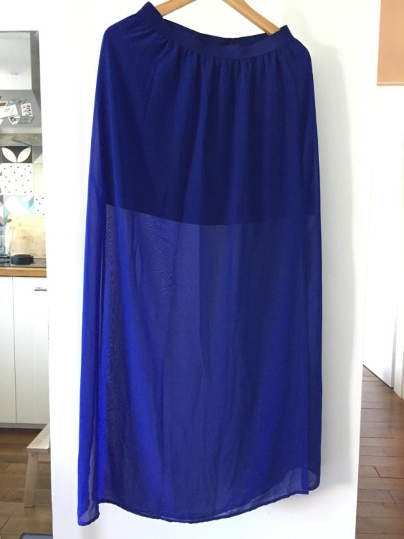 Spódnice Piękna niebieska letnia spódnica maxi H&M rozm 40