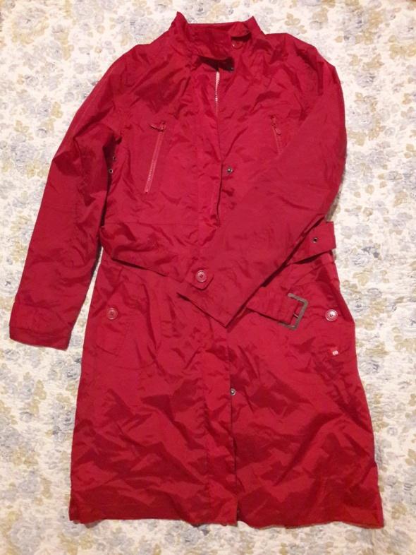 czerwony płaszcz cropp NOWY