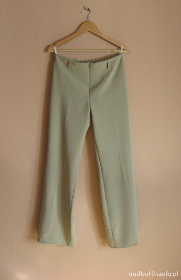 Eleganckie spodnie w kantke BEŻOWE NOWE 40