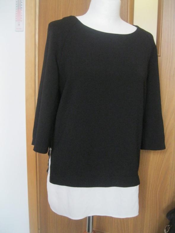 bluzka ATMOSPHERE 38 czarna z białym...