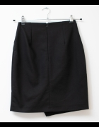 Mohito elegancka spódnica faktura czarna granatowa ołówkowa wiz...