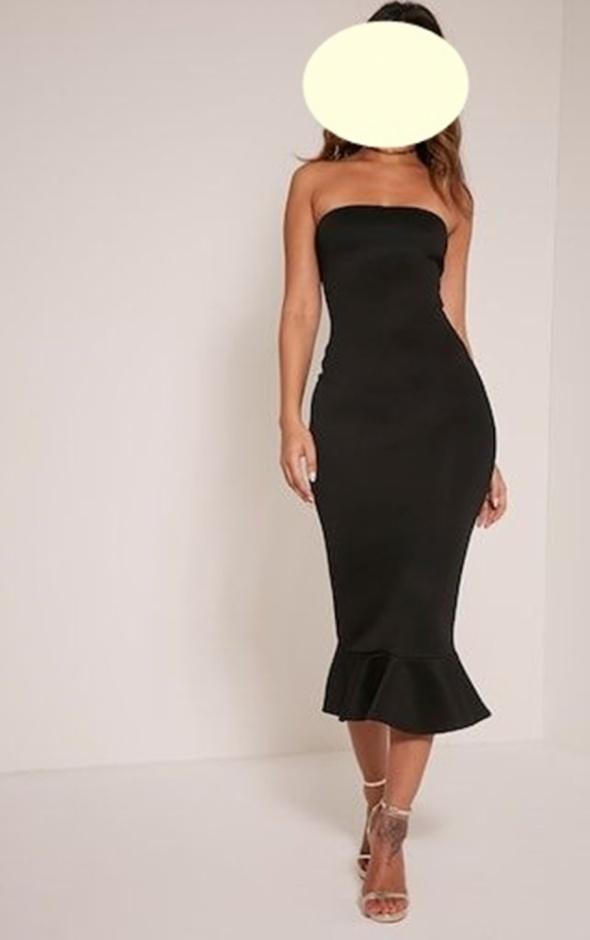 Prettylittlething sexy dopasowana sukienka czerń roz 40