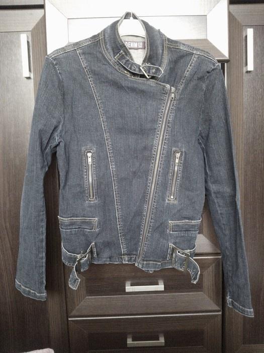 Granatowa jeansowa kurtka