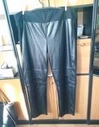 Piękne spodnie 52 54 patrz wymiary ekoskórka przód tył materiał...