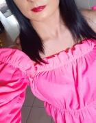 Bluzeczka hiszpanka neon róż mega...