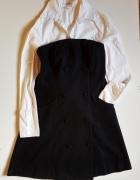 VILA CLOTHES Gorsetowa sukienka wełna wiskoza Rozm S 36...