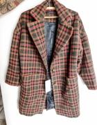 Płaszcz w kratę Zara M