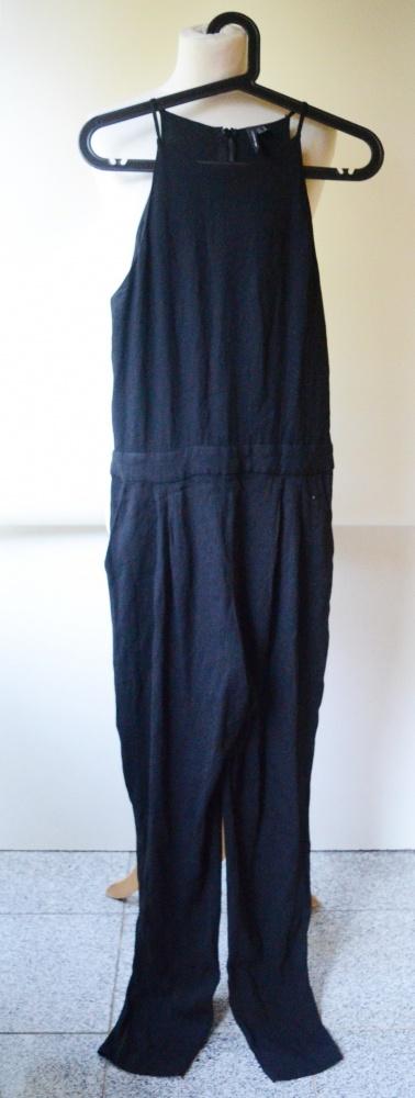 Kombinezon Czarny M 38 Mango Rurki Elegancki Spodnie