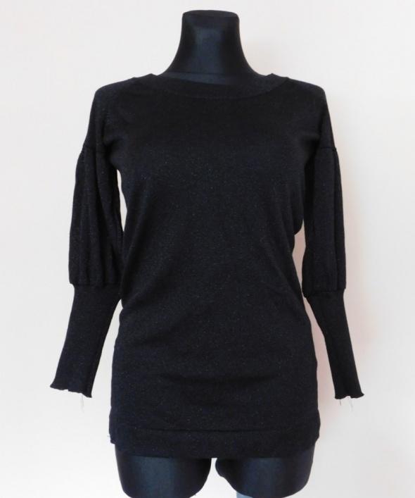 New Look bluzka czarna srebrna 36 38...