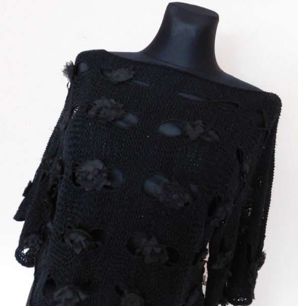 Layers czarna bluzka kwiaty 36 38...