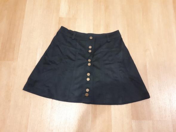 Spódnice Oliwkowa spódniczka Zara