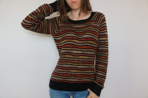 Sweter Orsay w nieregularne pasy S...
