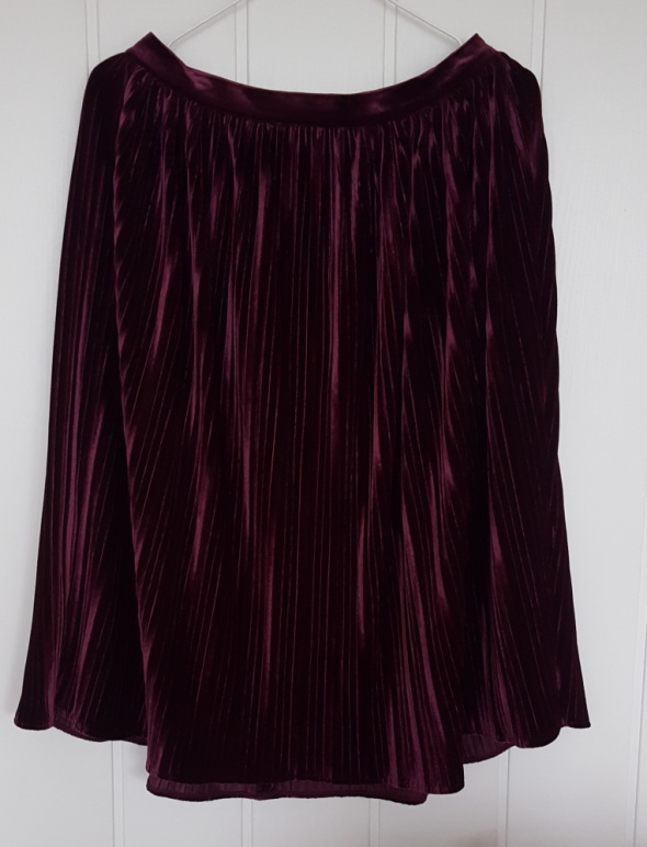 Nowa spódnica Reserved 40 L midi plisowana welurowa aksamitna fioletowa welur