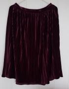 Nowa spódnica Reserved 40 L midi plisowana welurowa aksamitna f...