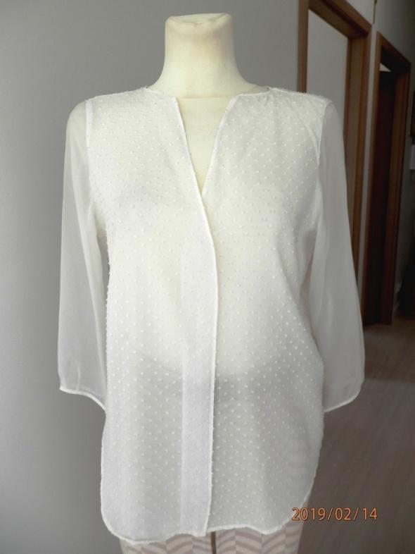 Bluzka Zara Kremowa Wizytowa Biurowa M