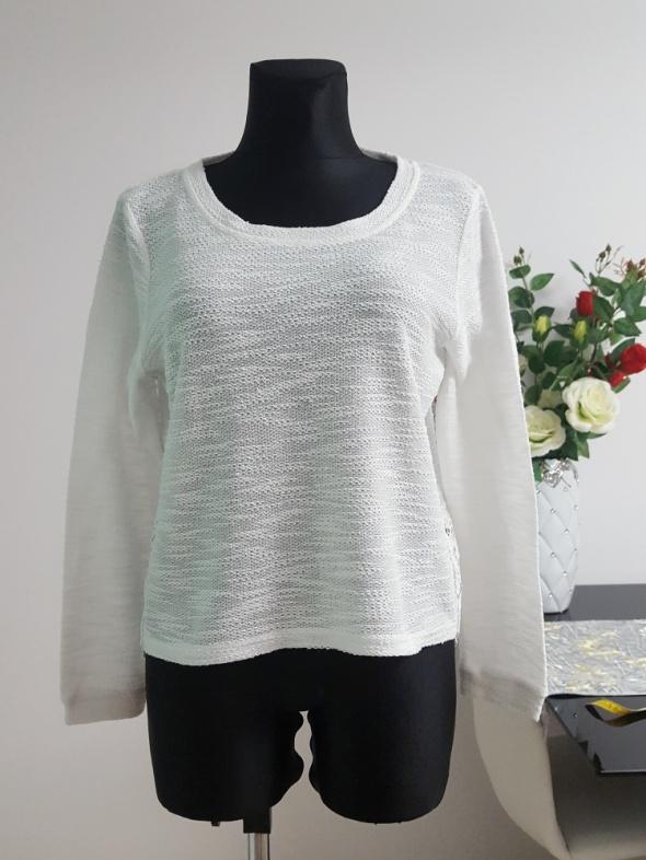 biały swetr z koronką Gina