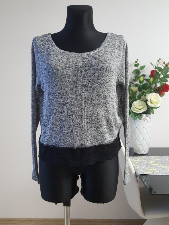 melanzowy swetr z koronką H&M
