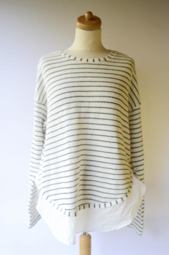 Sweter Paski Lindex L 40 Oversize Koszula Paseczki Elegancki