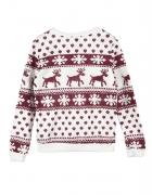 Nowa bluza z metka Świąteczny wzór Rozmiar 38 M