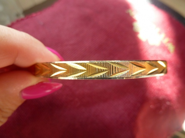 bransoleta srebrna złocona