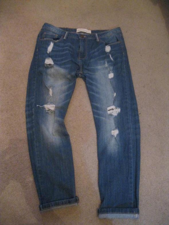 spodnie jeans boyfrend 38 rurki skinny niebieskie...