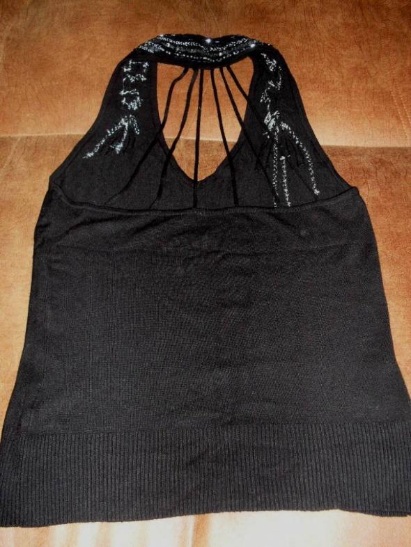 czarna z ozdobami bluzka roz 42