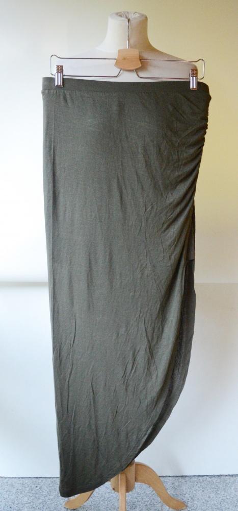 Spódniczka Asymetryczna Long Khaki Zieleń Only L 40 Maxi