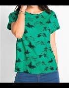 40 42 NOWY Modny Tshirt w żurawie...