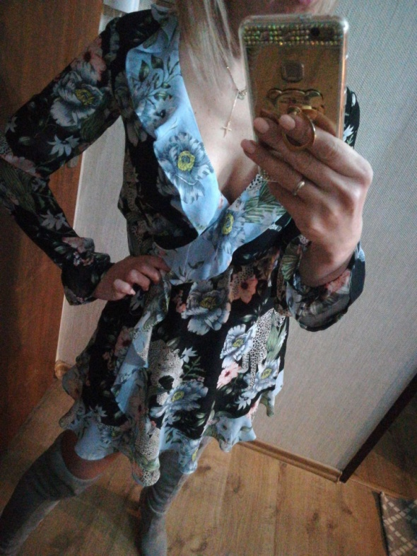Nowa sukienka falbany hm S