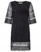 DARLING LONDON Czarna szydełkowa sukienka 36