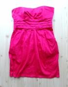różowa elegancka sukienka 42 xl New Look wesele...