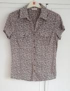 Bluzka Orsay 38 M koszulka bawełniana kwiaty floral koszula...