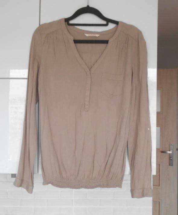 Camaieu beżowa camel bluzka elegancka z kieszonką...