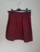 Spódnica bordowa rozkloszowana