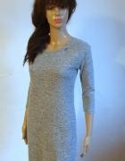 Szara dzianinowa sukienka r XS...