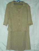 Komplet kostium garsonka sukienkabluzkaspódnicażakiet 48 50 52...