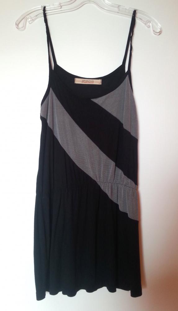 Czarno srebrna sukienka tunika Vero Moda S M