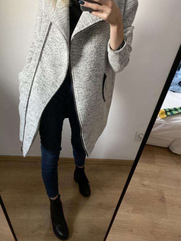 Szary płaszcz XS...