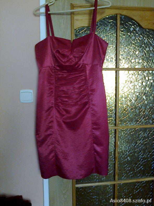 Moja ulubiona sukienka 42 malinowa
