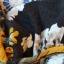 Czarna bluzka na ramiączkach w kwiaty r XS